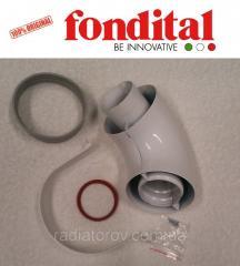 Коаксиальное колено ø 100/60 мм, 90 град. (для настенных TFS и Bali TFS) Fondital