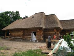 天然材料で作られた屋根