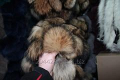 Fur pompon from a raccoon of 15-17 cm
