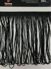 Танцевальная бахрома 20 см 16.5м Черный, арт. AB 8-1