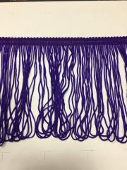 Танцевальная бахрома 15 см 16.5м Темный Фиолет