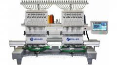 Промышленная 2- головочная вышивальная машина для рукавной вышивки VELLES VE 1502 CAP-SE