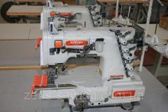 Высокоскоростная трехигольная пятиниточная распошивальная швейная машина Siruba C007K-W122-364/CH