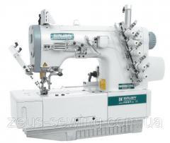 Плоскошовная двухигольная четырехниточная швейная машина Siruba F007J-W122-240/FHA