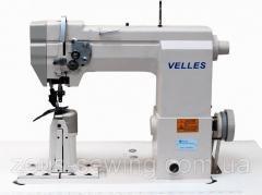 1-игольная колонковая машина челночного стежка с транспортирующим роликом VELLES VLPB9910
