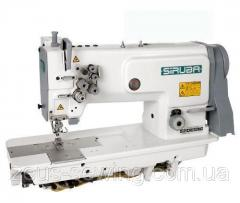 Высокоскоростная прямострочная универсальная двухигольная швейная машина челночного стежка Siruba T828-42-064M