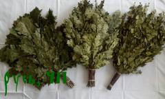 Bath brooms, saunas oak, birch, juniper, with