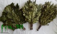 Bath brooms, saunas birch, oak, juniper. Available