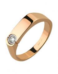 Золотой перстень 585 пробы с бриллиантом, артикул