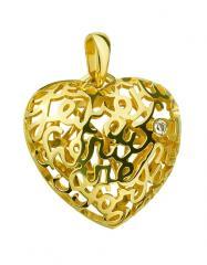 Золотой кулон 585 пробы с бриллиантом, артикул