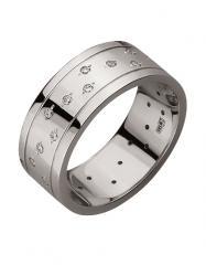 Золотое обручальное кольцо 585 пробы с фианитами,