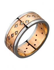 Золотое обручальное кольцо 585 пробы с