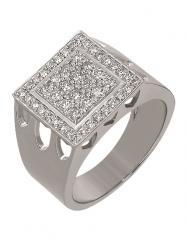 Золотой перстень 585 пробы с бриллиантами, артикул