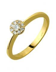 Золотое кольцо 585 пробы с бриллиантами, артикул