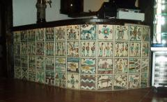 The tile is ceramic painted