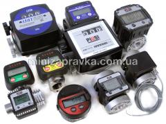 Mechanical counters of diesel fuel of gasoline of