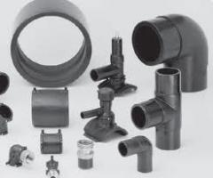 Fittings connecting for pipes from polyethylene