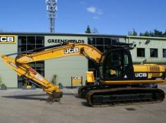 The caterpillar JCB JS220LC excavator for reasonable price.