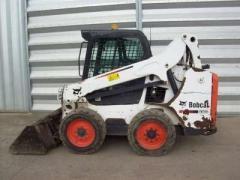 Pass a second-hand loader. Pass a loader of Bobcat S570 HF, 2013.