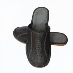 Кожаные тапочки летние, мужские ТЛМ3