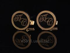 Cuff links with initials