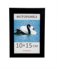 Фоторамка пластиковая черная 10х15, 1611-101