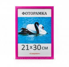 Фоторамка пластиковая 21х30,  А4,  165-13