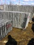 Curbstone, blocks from labradorite