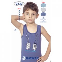 Майка для мальчика Большой футбол Baykar, синий,