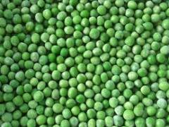 The peas frozen