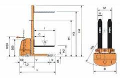 Штабелер самоходный акумуляторный SBT 5816