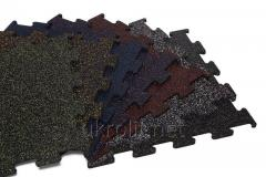 Резиновая плита ПАЗЛ цветная