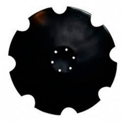 Диск бороны вырезной-10зубьев Unia Ø510мм, s=4мм Борированный