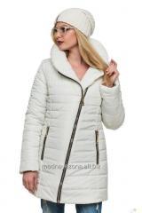 Зимняя куртка без капюшона.
