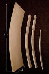 Bent parts made of oak veneer