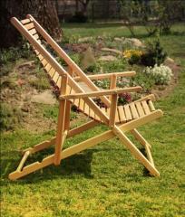 Шезлонг парковый деревянный