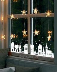 Новогодние наклейки на окно