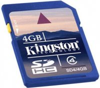 Карта памяти Kingston SDHC 4Gb Class 4