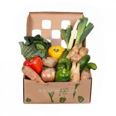 Картонные коробки и лотки для овощей и фруктов
