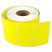 Термоэтикетка желтая 40*25 еко