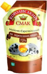 Майонез європейський на перепелиних яйцях (европейский на перепелиных яйцах) 72%, 650 г