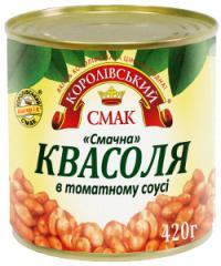 Фасоль в томатном соусе смачна (вкусная) 420 г