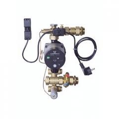 Компактный смесительный узел с насосом Alpha 2, 15-60; электромеханический термостат безопасности, ограничитель расхода, возможность проведений измерений 088U0097