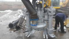 Погружной насос Dragflow с гидравлическим привод и разрыхлителями грунта