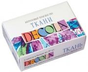 Набор акриловых красок ''Decola'', по ткани 6цв.,