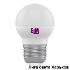 Лампа светодиодная ELM шар G45 4W E27 4000K