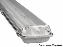 Люминесцентный влагозащищенный светильник ЛПП - 04 2*58
