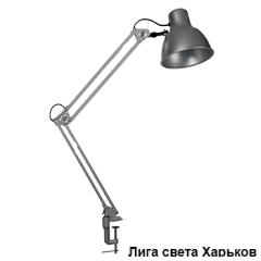 Desk lamp on a clamp of Delux TF-06 60W gray