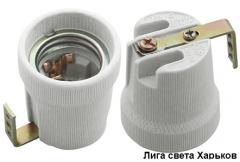 Патрон керамический Е27 с держателем