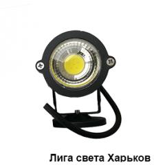 Светильник LED садовый Lemanso 1LED 5W 6500K чёрный/LM981